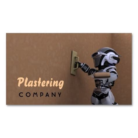 plastering company business card construction business