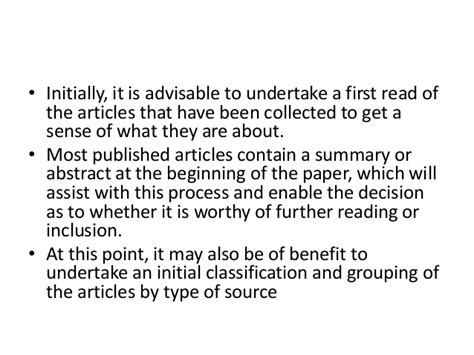 Literature Reviews Contain Two Types Of Data by The Literature Review