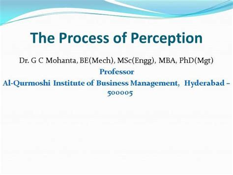 Business Administration Mba Phd Mba Jd Gc by The Process Of Perception Authorstream