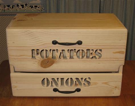 Potato Drawer by Countertop Potato Bin W Drawer 119 00 Via Etsy