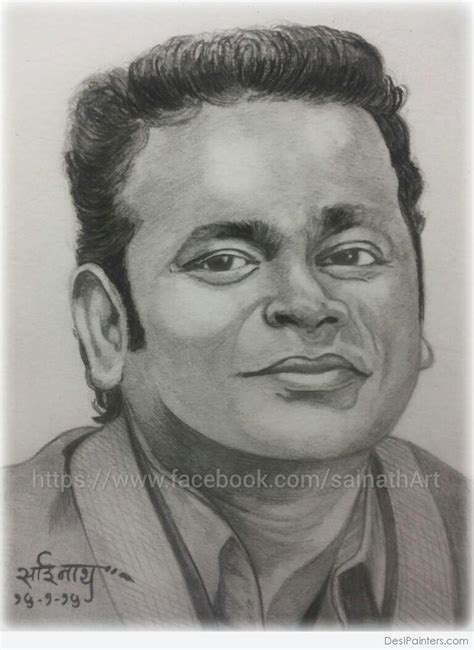 R Sketches by Pencil Sketch Of A R Rahman Desipainters