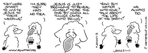 Wedding At Cana Bible Passage Catholic by Agnusday Org The Lectionary Comic