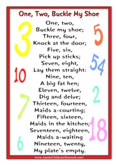 Printable Nursery Rhyme Stationary | one two buckle my shoe rhyme finger plays pinterest