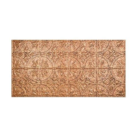 ceiling tiles home depot fasade traditional 2 2 ft x 4 ft glue up ceiling tile in cracked copper g51 19 the home depot