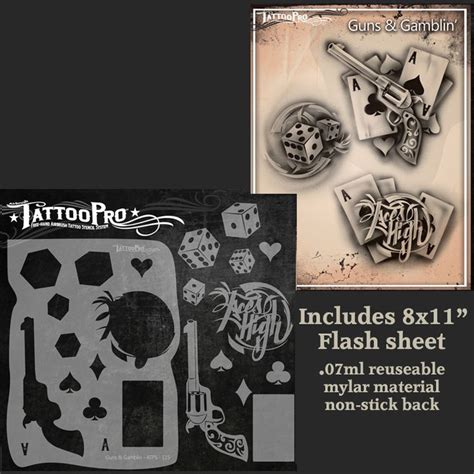 rockstar tattoo designs pro series 2 stencil guns gamblin rockstar