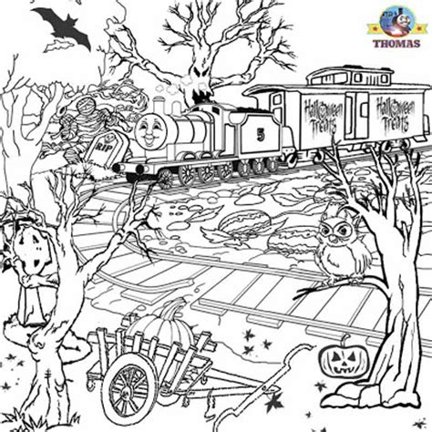 ghost train coloring page free printable halloween ideas kids activities thomas