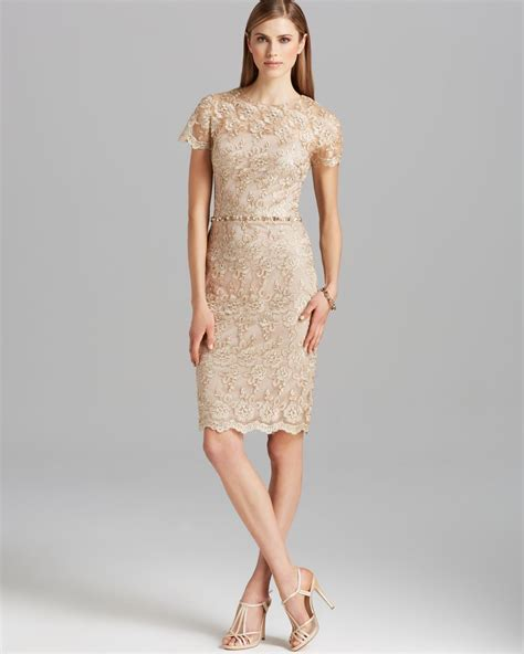Mini Formal Casual Clean Dress White Beige Sky Blue Import Murah david meister dress sleeve metallic lace beaded