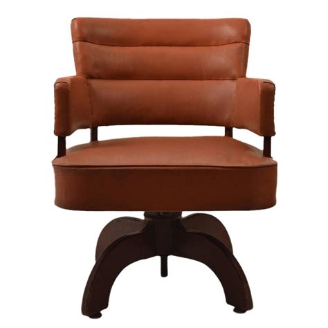 Art Deco Swivel Desk Chair At 1stdibs Desk Swivel Chairs