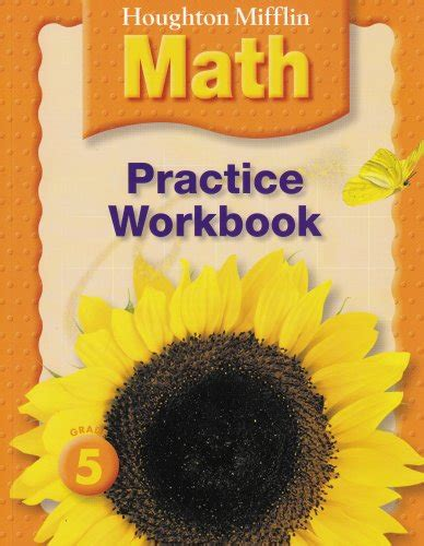 houghton mifflin math homework book consumable grade 5 books houghton mifflin math practice book grade 5
