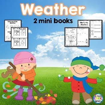 weather picture books weather mini books by staying cool in the library tpt