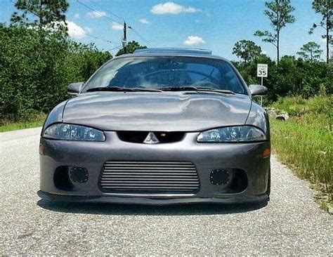 dsm mitsubishi eclipse 2g eclipse front bumper with evo style grill dsm cars
