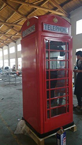 red cast iron replica english telephone booth steel metal