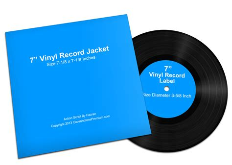 7 inch vinyl lp record mock ups cover actions premium