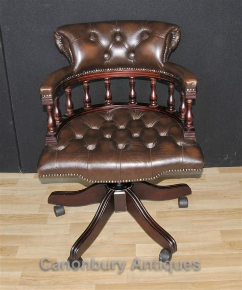 leather captains swivel chair antique dining chairs page 9 of 9 antique dining
