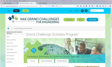 grand challenges scholars program foee other resources