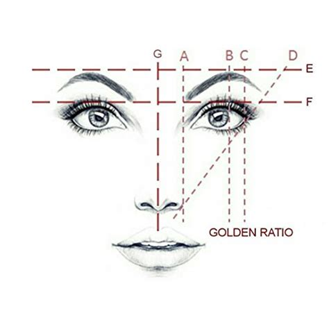 pinkiou eyebrow ruler permanent makeup stencils