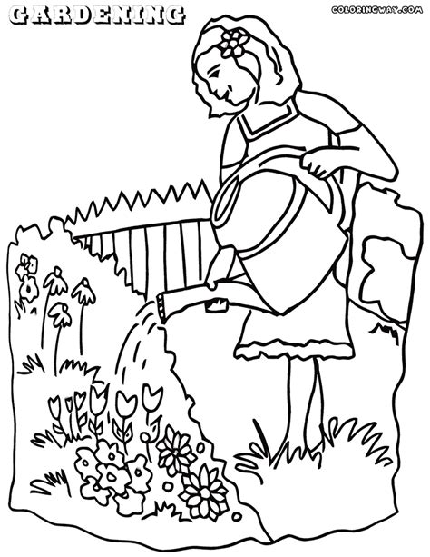garden hoe coloring page vegetable garden free coloring pages