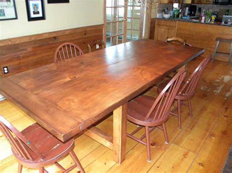 oversize pine dining room table woodworking blog