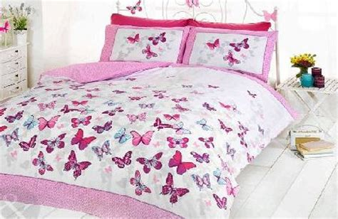 Children S Butterfly Fabric just contempo girls butterfly bedding reversible polka