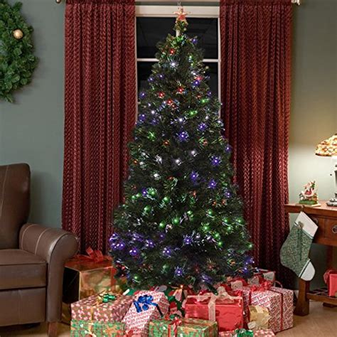 trees with fiber optic lights pre lit fiber optic 7 green artificial tree