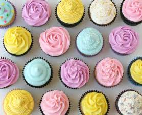 pink purple yellow and white cupcakes cupcakes photo
