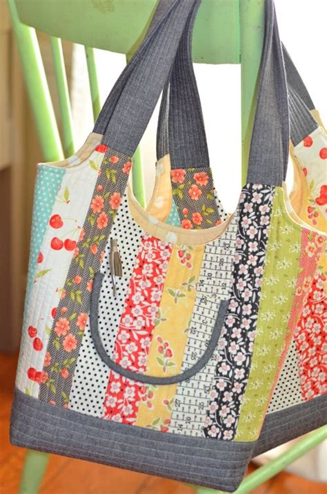 Free Patchwork Patterns For Bags - feedsack bag pattern from fig tree quilts includes three