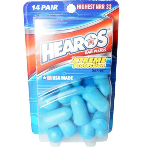 Hearos Protection Ear Plugs 33db Eceran 3 Pair Blue hearos xtreme protection series ear plugs 14 pairs ebay