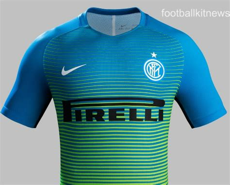 Inter Milan 3rd Jersey new inter milan third kit 16 17 blue green inter 3rd