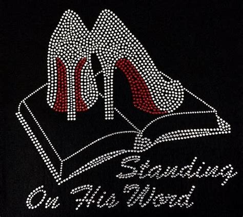 design a shirt with bling rhinestone standing on his word t shirt bling shirt
