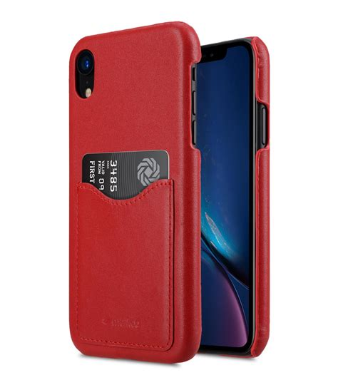 premium leather card slot back cover for apple iphone xr