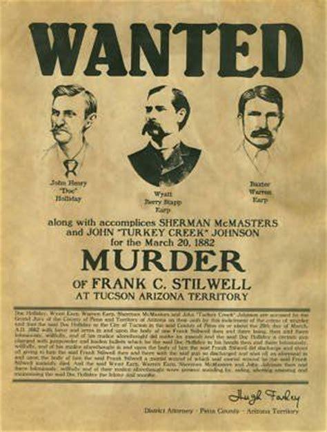biography of film wanted doc holliday wyatt earp warren earp wanted poster new