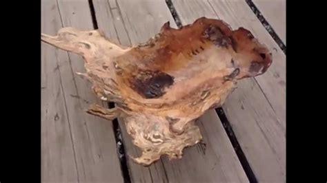 woodworking carving  bowl   wood burl jason