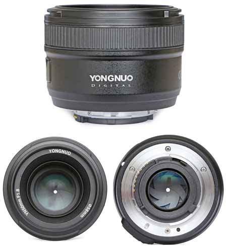 Lensa Yongnuo 35mm lensa yongnuo 50mm f1 8 yongnuo 50mm f1 4 dan yongnuo 35