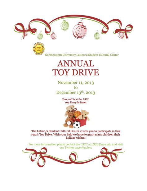 Lscc Toy Drive Nu Student Life Drive Flyer Template Free