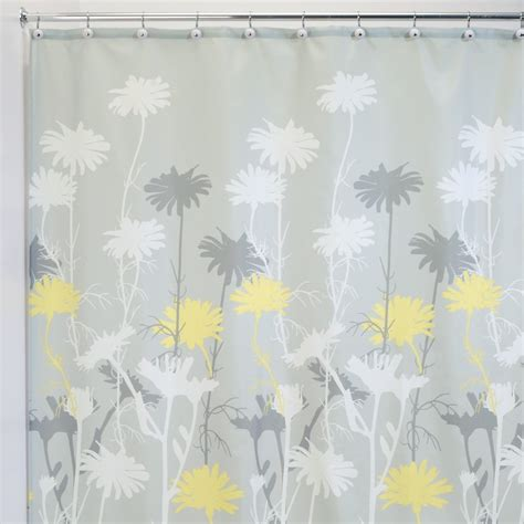 gray shower curtains fabric yellow and grey fabric shower curtains curtain