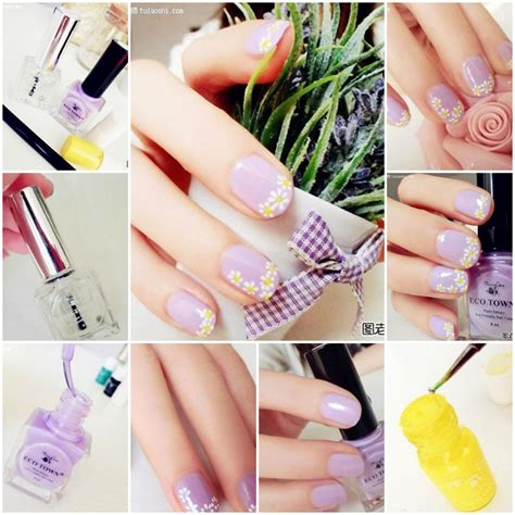 easy nail art how to how to make lovely daisy nail art step by step diy