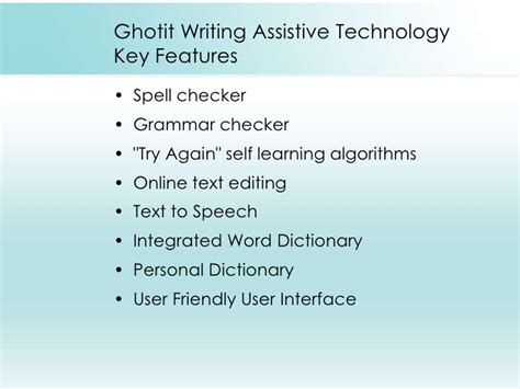 Justification Letter For Assistive Technology ghotit writing assistive technology that understands you
