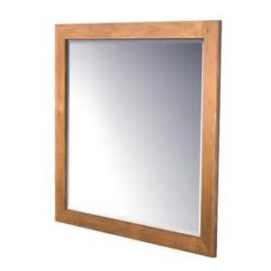 kraftmaid bathroom mirrors kraftmaid 42x36 in framed wall mirror in praline stain