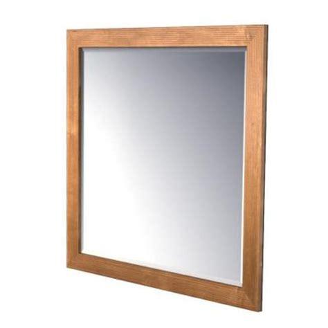 kraftmaid bathroom vanity mirrors kraftmaid 42x36 in framed wall mirror in praline stain