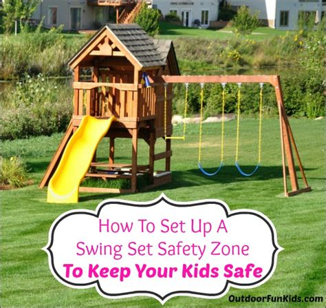 swing set safety how to set up your swing set safety zone to keep your kids