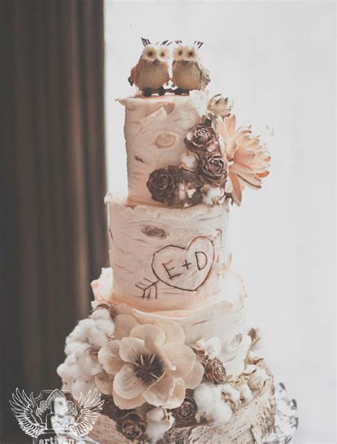 Wedding Cakes Unique by Picture Of Unique Woodland Wedding Cakes To Get Inspired 3