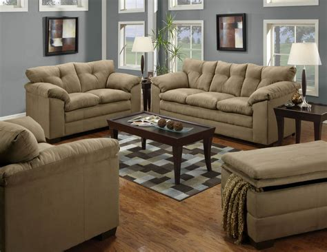 Fabric Living Room Sets Latte Sofa And Loveseat Fabric Living Room Sets