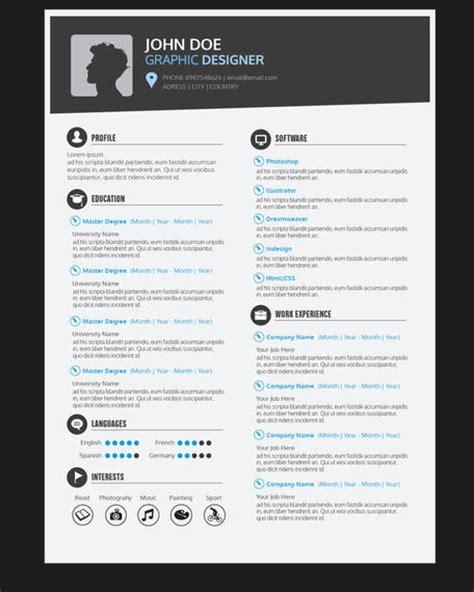 graphic designer resume cv vector download