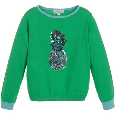 Sweater Pineapple 2 gorgeous green pineapple sweater childrensalon