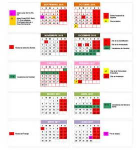 Calendario 2017 Vacaciones Calendario Escolar 2016 2017 En Granada Fiestas Puentes
