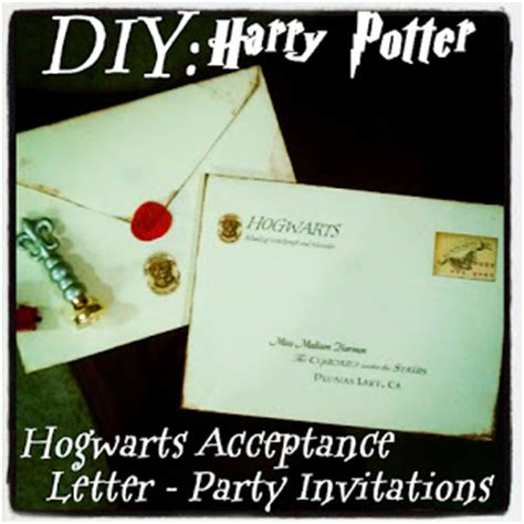 Hogwarts Acceptance Letter Birthday Card Uniquely Grace Harry Potter Invitations Delivered Owl Post Harry Potter Post 1