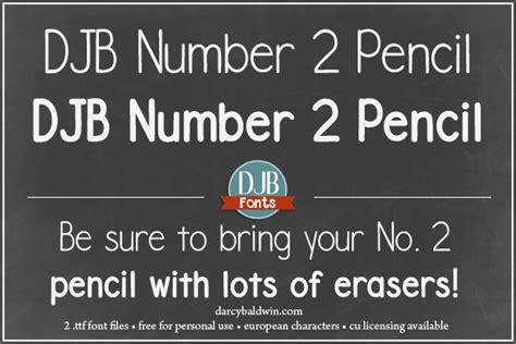 dafont pencil djb number 2 pencil font dafont com