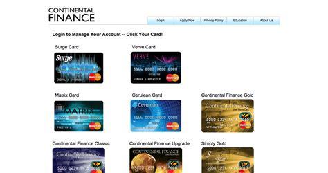 continental finance matrix credit card login make a payment