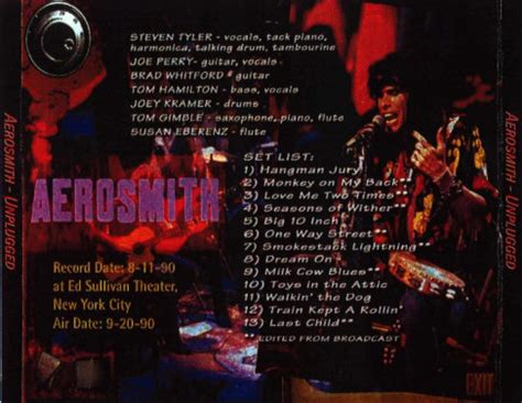 Aerosmith Unplugged 1990 1cd 2017 aerosmith metalcaravans