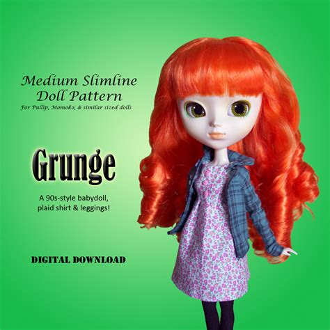 pattern pullip clothes 90s grunge outfit clothing pattern for pullip momoko